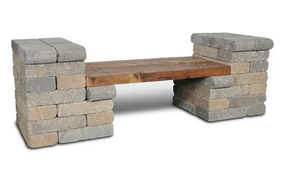 make a bench like this with cinder block