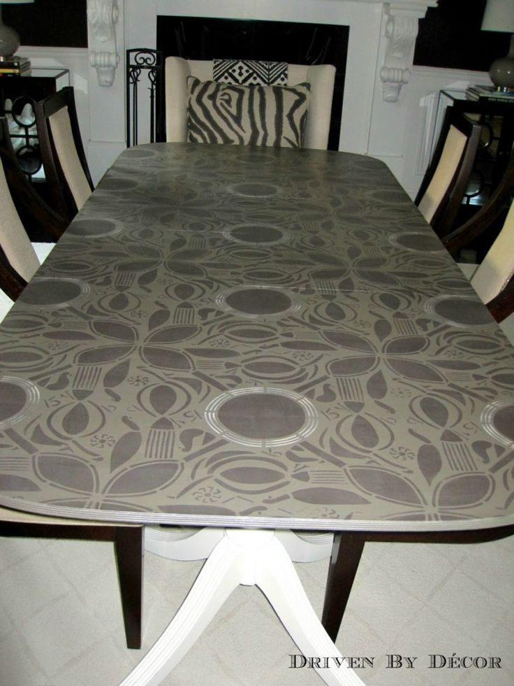 Stenciled dining