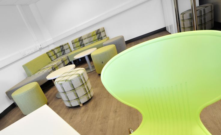 University of Southampton: Social Space.  Harmony Collection Legato modular sofa with Mood chairs.