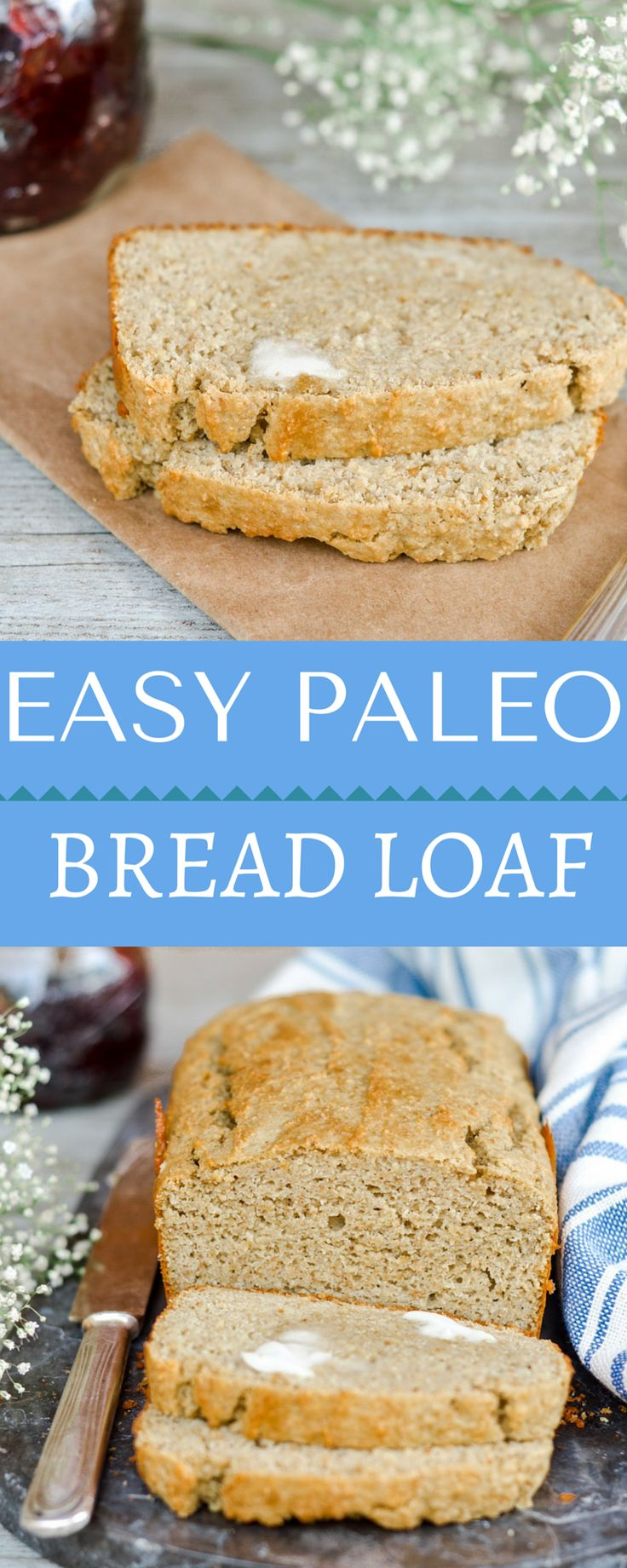 Paleo bread made with soft plantains, giving this bread a subtle exotic flavor. Gluten free and healthy for you, eating low carb has never been easier with this easy to make bread loaf. Throw everything into the blender and then cook it up!