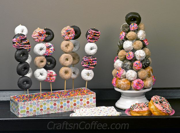 DIY a Donut Hole Tower and Donut Kebobs (and a Donut Giveaway!)