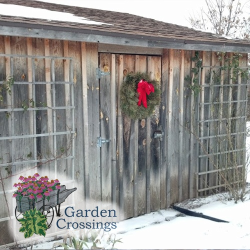 beautiful old shedbarn at frederik_meijer_gardens lovely in the snow