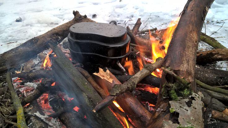 Gotowanie herbaty na wolnym ogniu :)