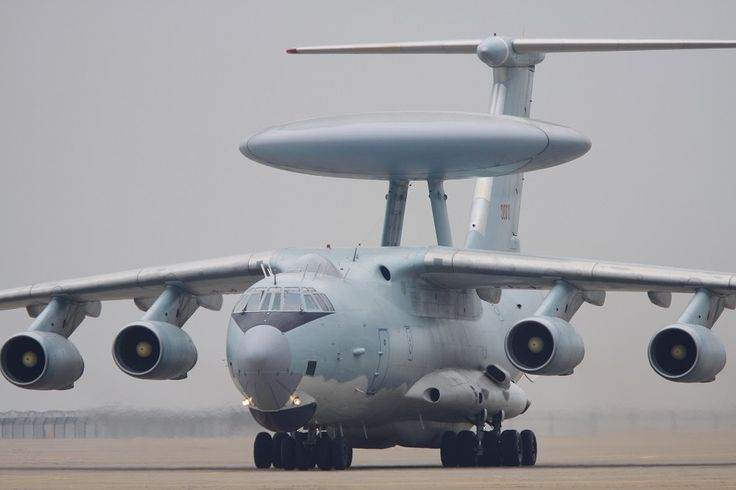 Chinese People's Liberation Army Air Force KJ-2000 airborne early warning and control system [1000 x 666]