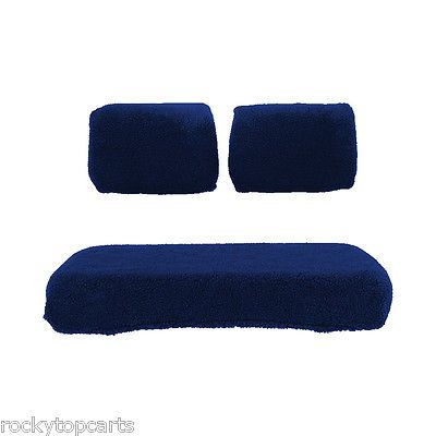 Push-Pull Golf Cart Add-ons 72671: Yamaha Golf Cart Navy Sheepskin 3 Piece Seat Cover Set Fits G2 And G9 -> BUY IT NOW ONLY: $45.99 on eBay!