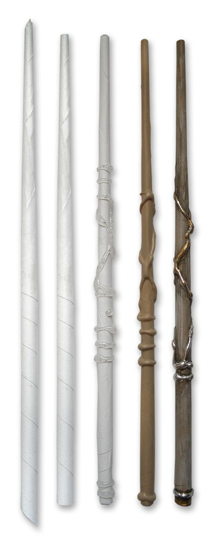 Make an awesome Harry Potter wand from a sheet of paper and glue gun glue (for when the $40 wands we bought from the Wizarding World of Harry Potter inevitably break)