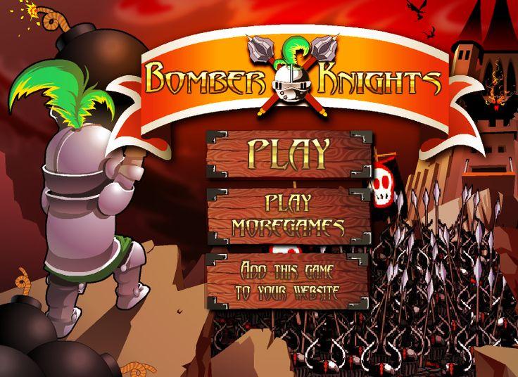 Love Playing #Arcade game : Play Bomber Knights on flashgamenation