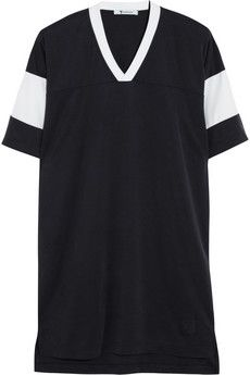 T by Alexander Wang Sandwashed piqué T-shirt dress | NET-A-PORTER  Long T. Best for wearing around the house!
