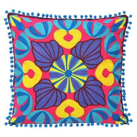 Sky Neon Embroidered Cushion