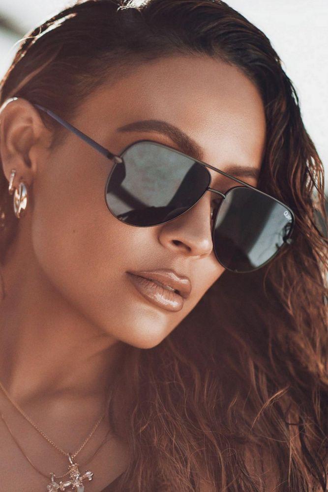 76cb9eb7160 QUAY High Key Mini Sunglasses Black   Smoke in 2019