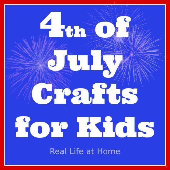 Lots of great ideas for 4th of July crafts for kids