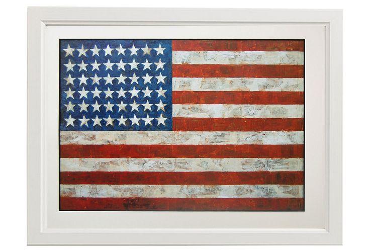 One Kings Lane - Modern Masters - Jasper Johns, Flag