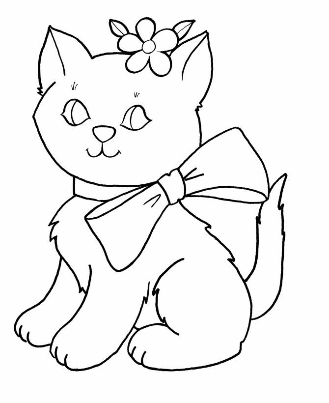 Coloring Pages For Kids Kids Coloring Pages Free Printable Easter Bow Kitty Coloring Page Kitty Coloring Cat Coloring Page Free Coloring Pages
