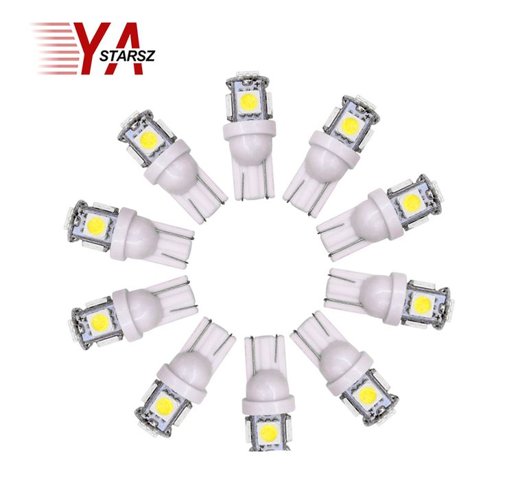 10pcs Auto T10 5SMD 5050 Automotive LED Light W5W 192 168 194 5050 SMD White Bulb Xenon LED Bulb Light Bulb