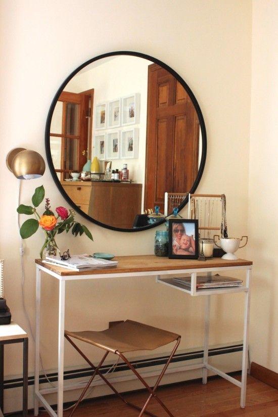 die besten 25 halber tisch ideen auf pinterest nachtstandswiederaufbau eingangs bank und. Black Bedroom Furniture Sets. Home Design Ideas