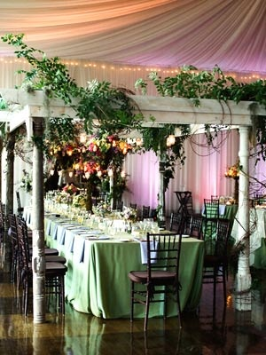 Bring the outdoors inside. theknot.com: Indoor Receptions Ideas, The Knot, Indoor Gardens Wedding Ideas, Receptions Spaces, Outdoor Inside, Indoor Trees Receptions, Parties Spaces, Indoor Gardens Receptions, Outdoor Receptions