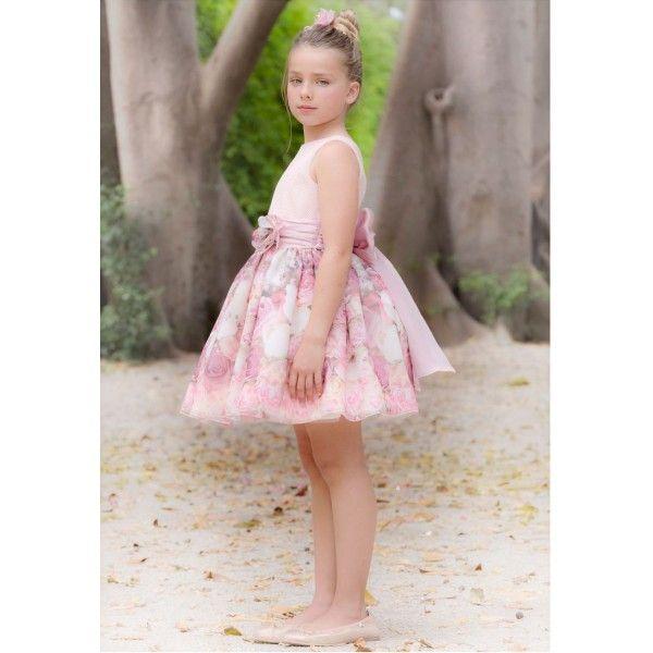 Vestido de arras y ceremonia 2016 de niña de AMAYA, modelo 97704, mejor precio, Alpi Moda Infantil Valladolid,www.alpinet.es