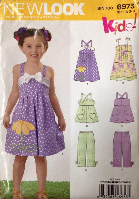 New Look 6973 UNCUT Girls sundress shirt and pants by Lonestarblondie