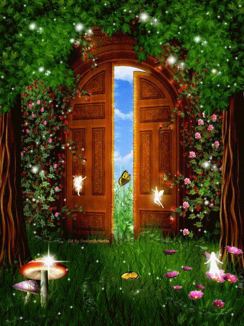 Картинки днем, сказочные двери гифки анимированные картинки