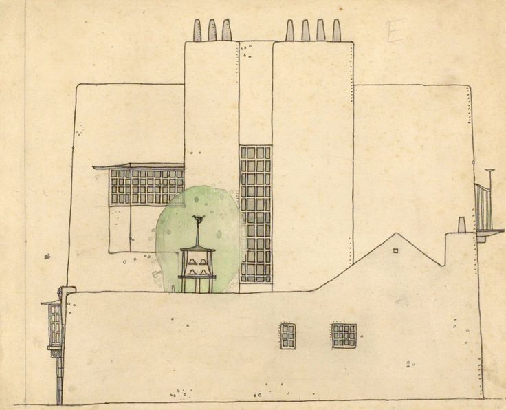 Charles Rennie Mackintosh, Artists house in the country. © The Hunterian, University of Glasgow