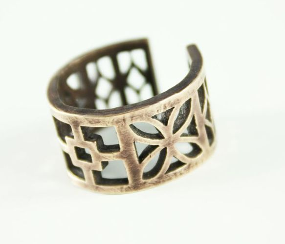 Detailed bronze ring