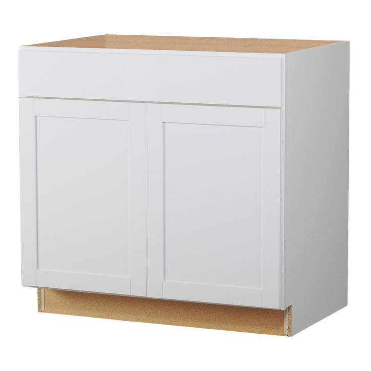 $140 Diamond NOW Arcadia 36-in W x 35-in H x 23.75-in D White Shaker Sink Base Cabinet