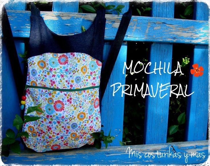 Mis costurikas y más: Mochila primaveral con referencia a patrón y tutorial