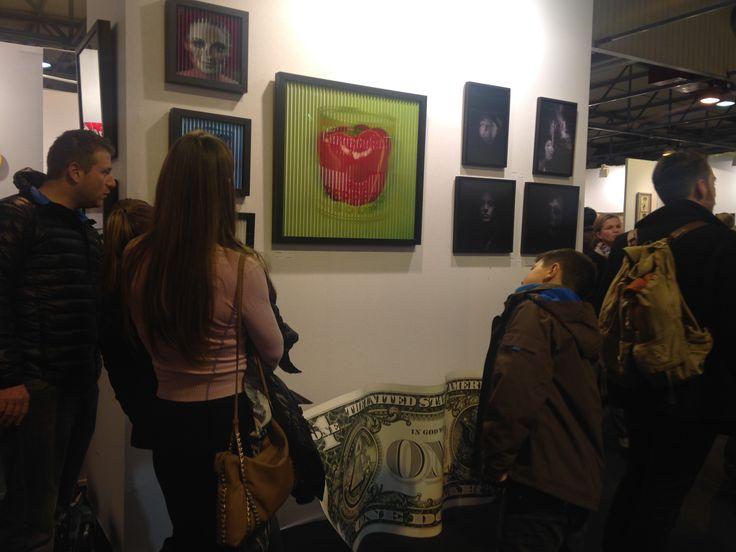 Nombreux au ST-ART de #Strasbourg la @ColorfieldGal team a de quoi faire !!!!