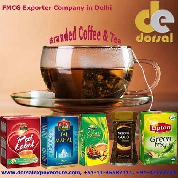 Buy best quality & branded Tea and Coffee with top Fast Moving Consumer Goods Exporter Company from India - Dorsal Expoventure