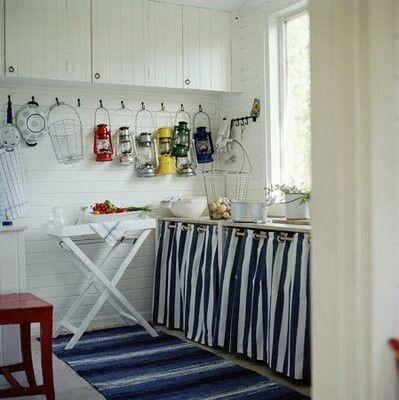 Mejores 12 im genes de muebles con cortina en pinterest for Cortinas para cocina rustica