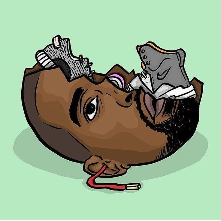 K is for Kanye West - Love him or hate him he is a massive influence on sneaker culture   by #daleillustration  #sneakerart #artist @daleillustration