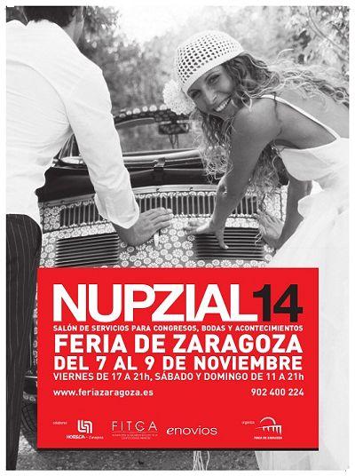 Del 7 al 9 de noviembre visita @feriadezaragoza la feria #nupzial 2014 @salonnupzial. No te lo pierdas! @MiBodaApp