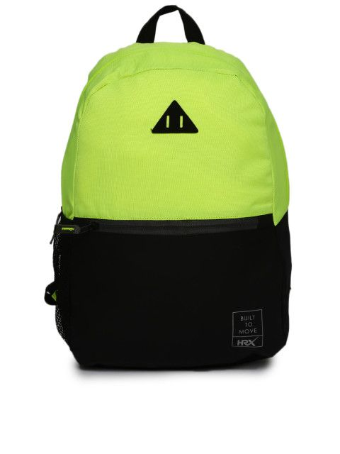 05cf0cfc6c Buy HRX By Hrithik Roshan Unisex Black LifeSport Solid Backpack ...