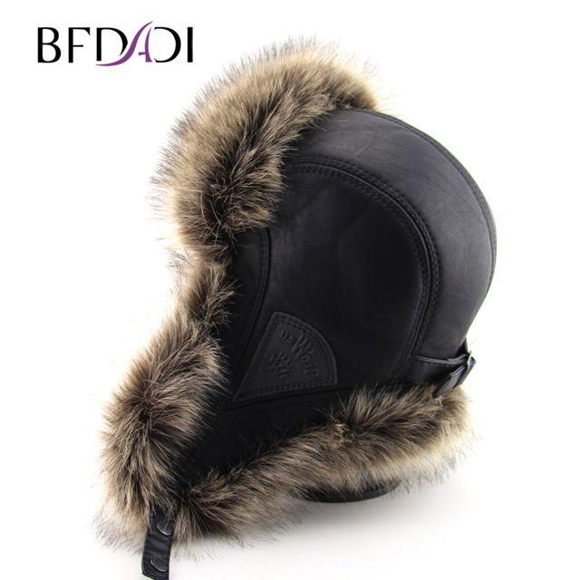 Flash Deals $19.78, Buy BFDADI Hot Sale faux fur Ear Flaps Cap trapper snow ski snowboard warm winter aviator bomber hats caps women men Free Shipping