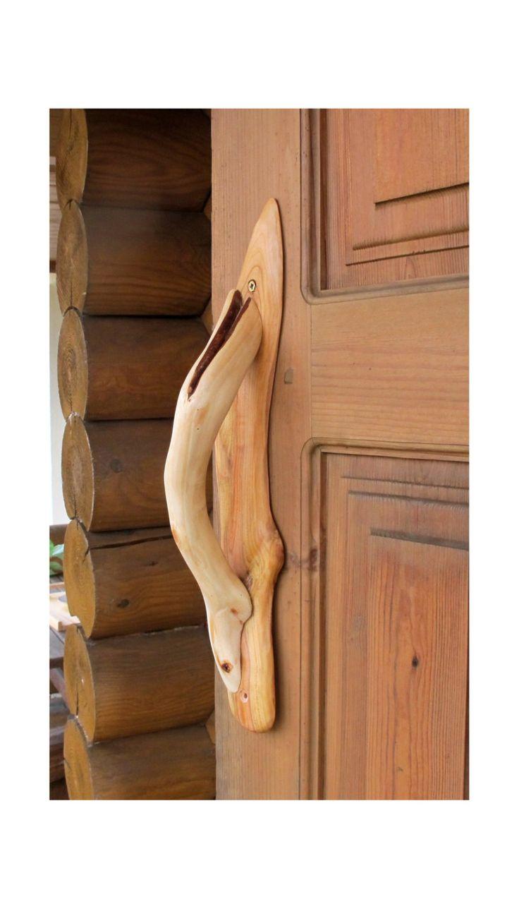 Large Wood Sauna Door Handle, Wooden Cabin Door Pull, Rustic Wooden Door Handle, Organic Wood, Eco Friendly by Vishemir on Etsy