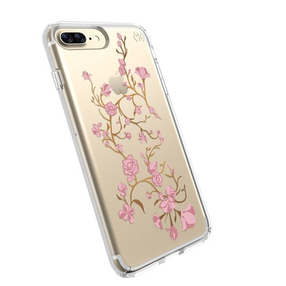 PRESIDIO CLEAR + PRINT IPHONE 7 PLUS CASE- GOLDEN BLOSSOMS PINK/CLEAR