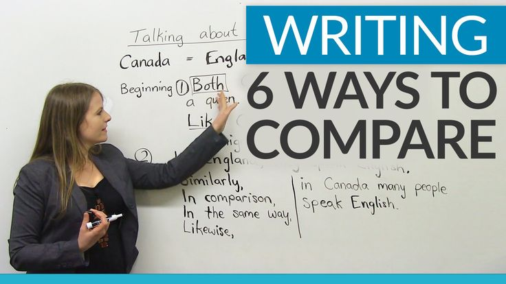 Improve your writing - 6 ways to compare. One of the most common types of essays you will have to write at university as well as on the IELTS or TOEFL is a comparison essay. In this lesson, I will te...