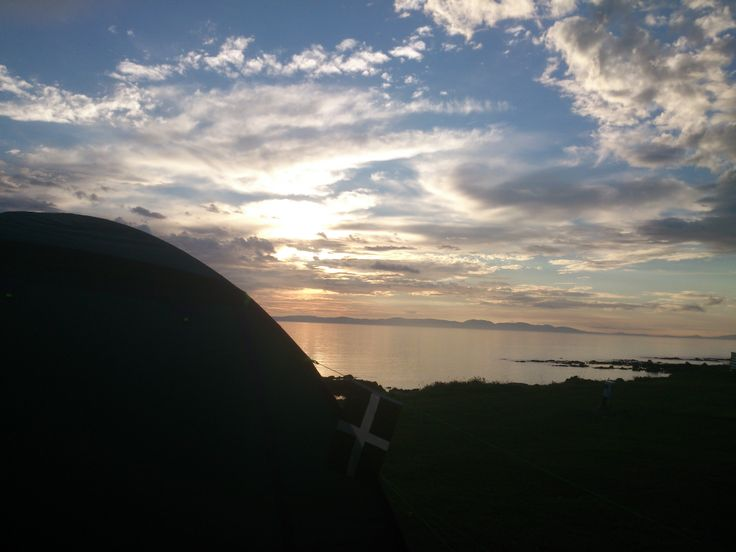 Taking the Cornish flag of St Piran camping in the Scottish Highlands :)