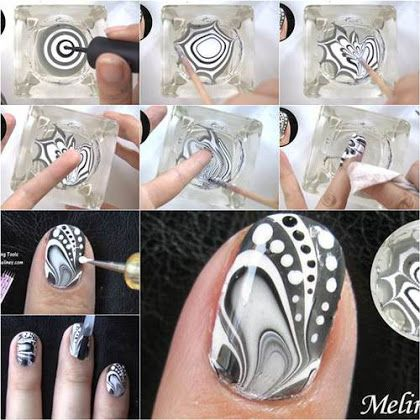 Beautiful Marble Design Nail Art