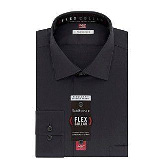Van Heusen Men's Flex Collar Stretch Regular Fit Spread Collar Solid Dress Shirt