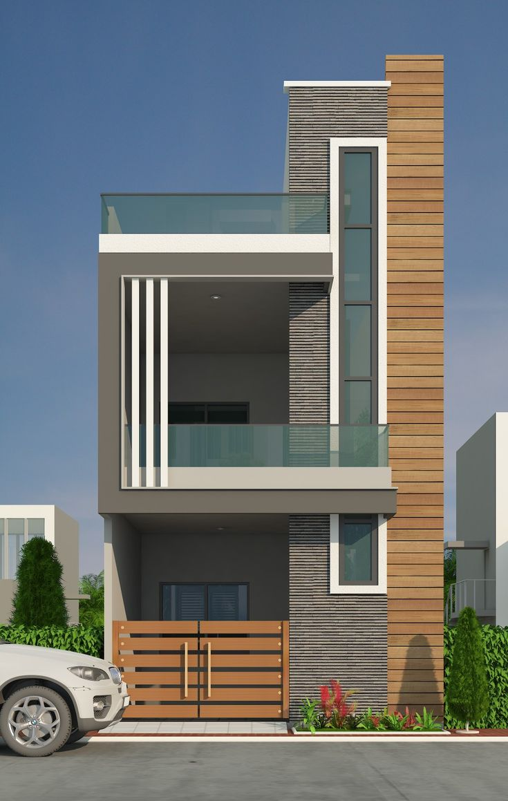 G+1 narrow house in 2020 | Small house elevation design ...