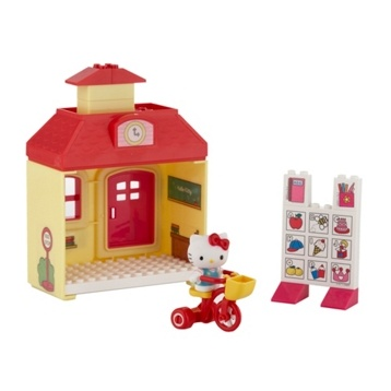 Take Hello Kitty to school on her tricycle and prepare for a fun day of learning with the Hello Kitty schoolhouse playset. £11 at Debenhams