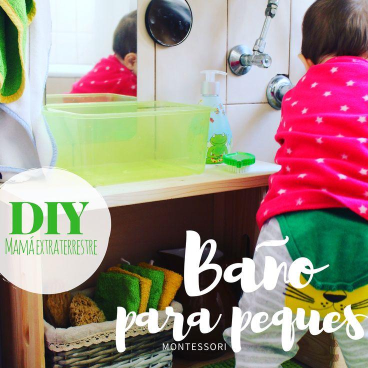 Baño para peques lavabo montessori DIY espacio reducido muy pequeño