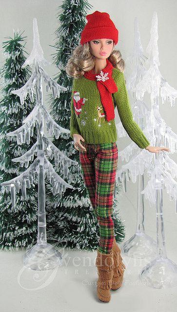 Poppy Parker's plaid Christmas   Flickr - Photo Sharing!