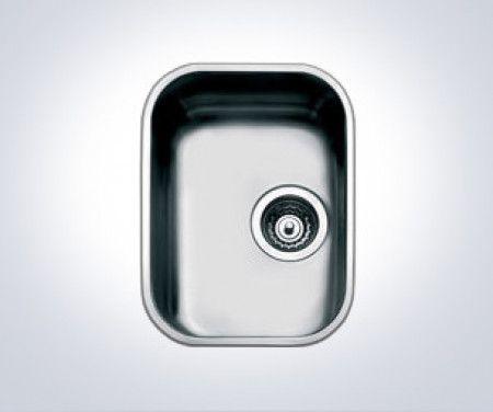 Alba Undermounted single sink  Colour : Stainless steel Manufacturer : Smeg Bowl depth: 180mm Dishwasher drain trap Drain