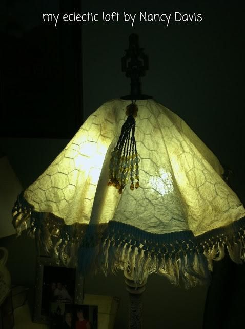 96 best chicken wire wonders images on pinterest craft mesh chicken wire frame lamp shade crafts electrical repurposing upcycling the ambiance is so cozy warm and inviting once you place your chicken wire shade greentooth Gallery