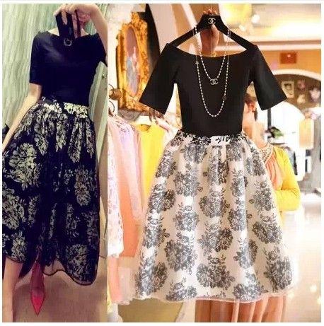 2016 New Fashion Vintage Elegant Two Pieces Female Dress Summer Twinset Women…