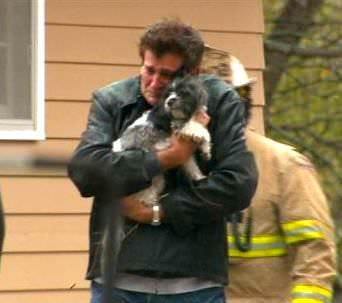 The Look On This Man's Face After Being Reunited With His Dog After A House Fire Defines True Love #MansBestFriend