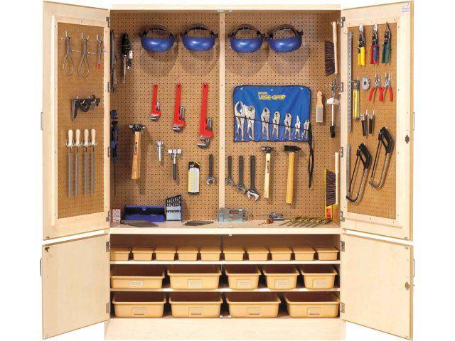Best 25 Tool Storage Cabinets Ideas On Pinterest Garage Work Organization And