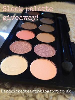 SLEEK PALETTE GIVEAWAY!  http://handpickedbeauty.blogspot.co.uk/2013/04/sleek-palette-giveaway.html